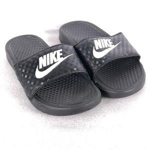 Nike Benassi Jdi Swoosh Slide Sandals - Black
